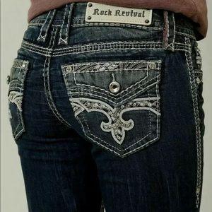 Rock Revival Easy Capri Jeans Size 30 31 32 33 34